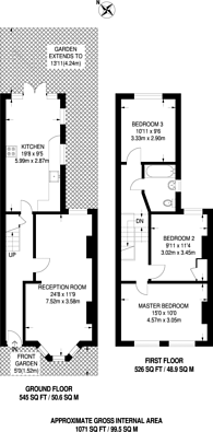 Large floorplan for Searles Road, Elephant and Castle, SE1