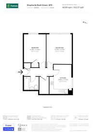 Large floorplan for Shepherds Bush Green, Shepherd's Bush, W12