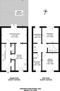 Large floorplan for Gwyn Close, Fulham, SW6