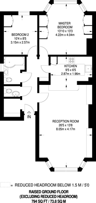 Large floorplan for Adamson Road, Belsize Park, NW3