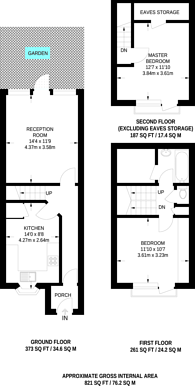 Large floorplan for Mackenzie Road, Islington, N7