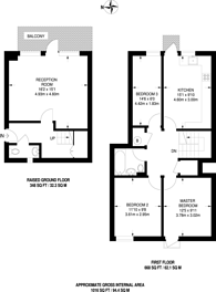 Large floorplan for Cartwright Street, Tower Hill, E1
