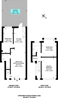 Large floorplan for Bassingham Road, Wandsworth, SW18