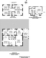 Large floorplan for Alison Close, Pinner, HA5