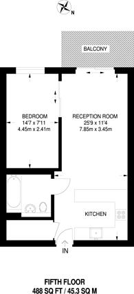 Large floorplan for Aerodrome Road, Colindale, NW9