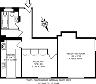 Large floorplan for Kingsgate House, Brixton, SW9