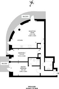 Large floorplan for Ability Place, Canary Wharf, E14