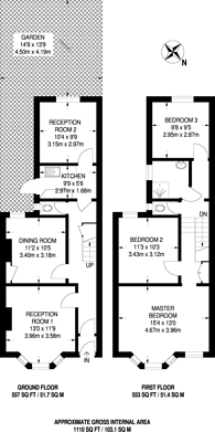 Large floorplan for St Margarets Road, Kensal Green, NW10