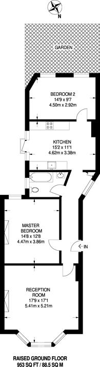 Large floorplan for Widdenham Road, Islington, N7