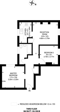 Large floorplan for Willow Place, Westminster, SW1P