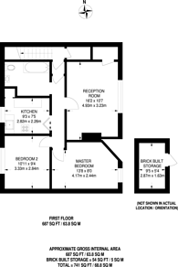 Large floorplan for Bittacy Hill, Mill Hill East, NW7
