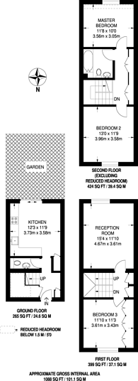 Large floorplan for North Road, Wimbledon, SW19