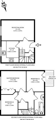 Large floorplan for Horatio Street, Bethnal Green, E2