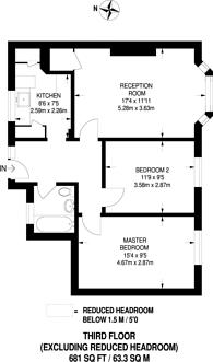 Large floorplan for Borrodaile Road, Wandsworth, SW18