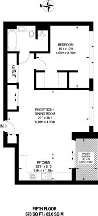 Large floorplan for Elizabeth Court, Westminster, SW1P