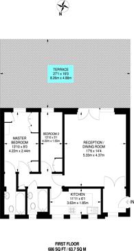 Large floorplan for Cheltenham Terrace, Chelsea, SW3