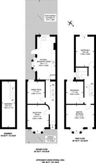 Large floorplan for Disraeli Road, Forest Gate, E7