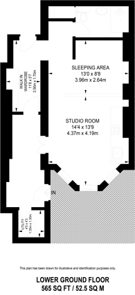 Large floorplan for Elm Park Gardens, Chelsea, SW10