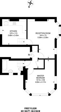 Large floorplan for Tremadoc Road, Clapham High Street, SW4