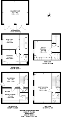 Large floorplan for Cobbett Hill Road, Guildford, GU3