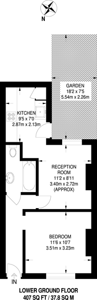 Large floorplan for Hurst Street, Herne Hill, SE24