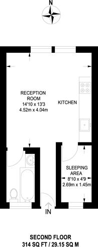 Large floorplan for Lambert Road, Brixton, SW2