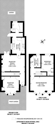 Large floorplan for Priory Avenue, Sudbury, HA0