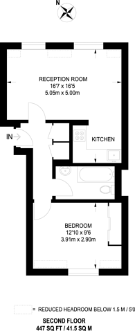 Large floorplan for Wellington Road, Wimbledon Park, SW19