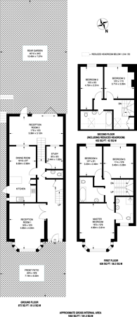 Large floorplan for East End Road, Finchley Central, N3