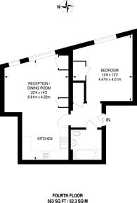 Large floorplan for Old Paradise Street, SE11, Kennington, SE11