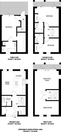 Large floorplan for Palace Wharf, Fulham, W6