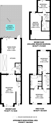 Large floorplan for Tasso Road, Barons Court, W6