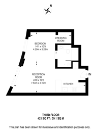 Large floorplan for Riverwalk, Westminster, SW1P