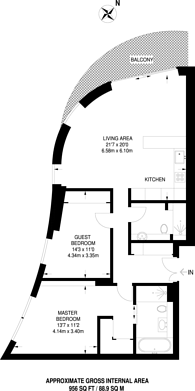 Large floorplan for Riverwalk, Westminster, SW1P