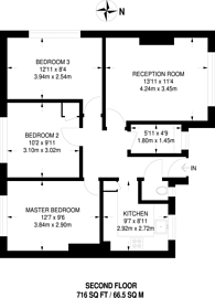 Large floorplan for India Way, Shepherd's Bush, W12