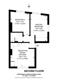 Large floorplan for The Vale, Acton, W3