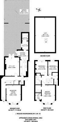 Large floorplan for Dovercourt Road, Dulwich, SE22