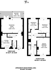 Large floorplan for Burritt Road, Kingston, KT1