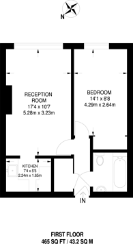 Large floorplan for York Road, Guildford, GU1
