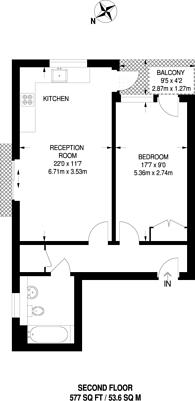 Large floorplan for Hardwicks Way, Wandsworth, SW18