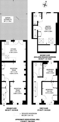 Large floorplan for Florence Road, South Park Gardens, SW19