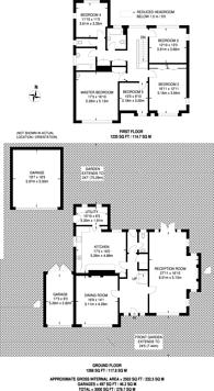 Large floorplan for Kelsey Way, Beckenham, BR3