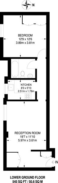 Large floorplan for Clarendon Place, Hyde Park Estate, W2