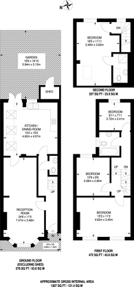 Large floorplan for Greyhound Road, Kensal Green, NW10