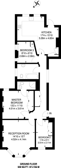 Large floorplan for Grantully Road, Maida Vale, W9