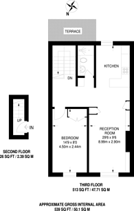 Large floorplan for Child's Street, Earls Court, SW5