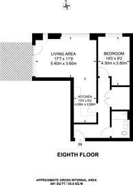 Large floorplan for Orchard Wharf, Canary Wharf, E14