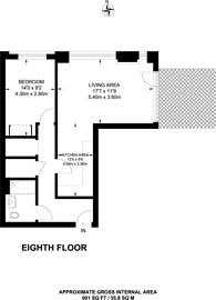 Large floorplan for Orchard Wharf, Canary Wharf, E14