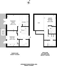 Large floorplan for Milles Square, Brixton, SW9
