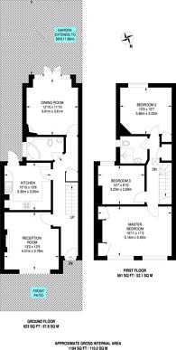 Large floorplan for Dagmar Avenue, Wembley Park, HA9